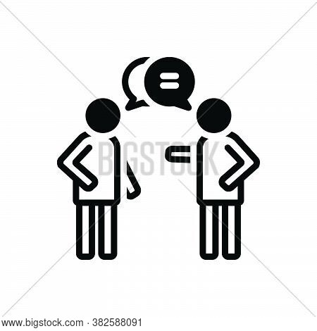 Black Solid Icon For Talk Gossip Chatter Conversation Patter Jabber Communication