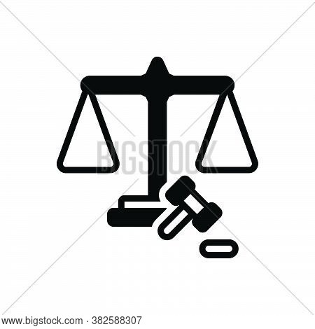 Black Solid Icon For Fairly Adequately Justly Justice Scale Law Balance Weight Equal Judge Legal Equ