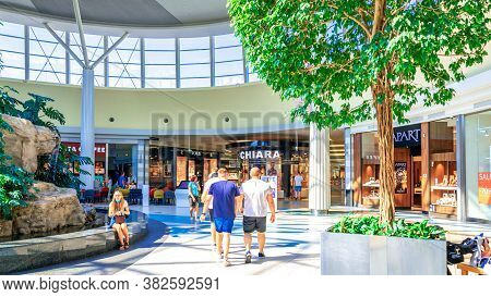 Katowice. Poland 8 August 2020. Customer Store In Silesia City Center. People Shopping In Modern Com