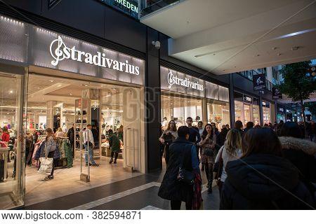 Lviv, Ukraine - January 19, 2020: Stradivarius Fashion Clothing Store In City Mall