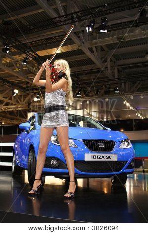 Woman, Violin And Car