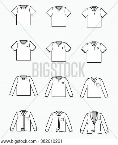 White T-shirt, Polo Shirt, Collared Formal Cloth, Tuxedo Icon For Production Clothing, Advertisement