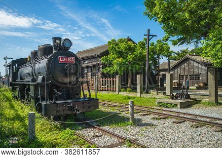 August 6, 2020: The Hualien Railway Culture Park Located In Hualien City, Hualien County, Taiwan, Wa