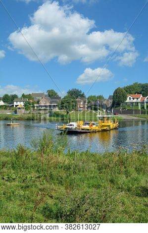 Village Of Kessel At Maas River In Limburg Province,netherlands