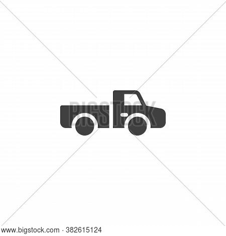 Pickup Truck Vector Icon. Filled Flat Sign For Mobile Concept And Web Design. Suv Truck Glyph Icon.