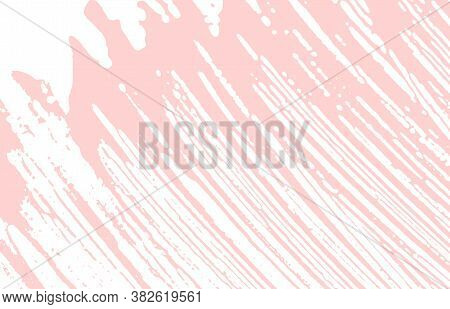Grunge Texture. Distress Pink Rough Trace. Extraordinary Background. Noise Dirty Grunge Texture. Unc