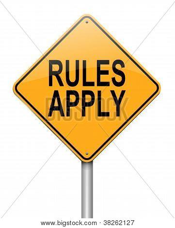 Regeln gelten.