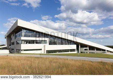 Aarhus, Denmark - August 4, 2020: Moesgaard Museum Is Situated At Moesgaard Manor In Hojbjerg, A Sub