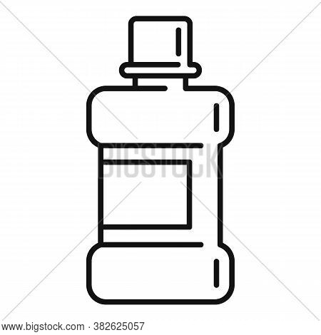 Mouthwash Icon. Outline Mouthwash Vector Icon For Web Design Isolated On White Background