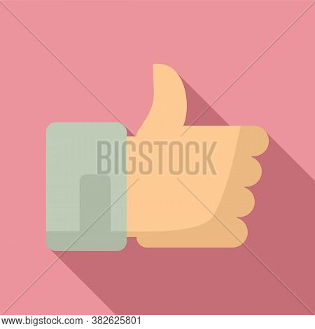 Thumb Up Mission Icon. Flat Illustration Of Thumb Up Mission Vector Icon For Web Design
