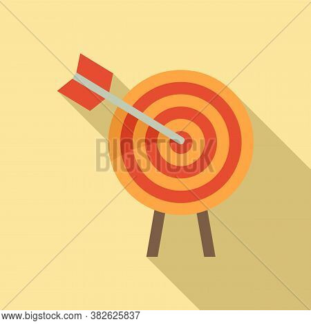 Arch Target Mission Icon. Flat Illustration Of Arch Target Mission Vector Icon For Web Design