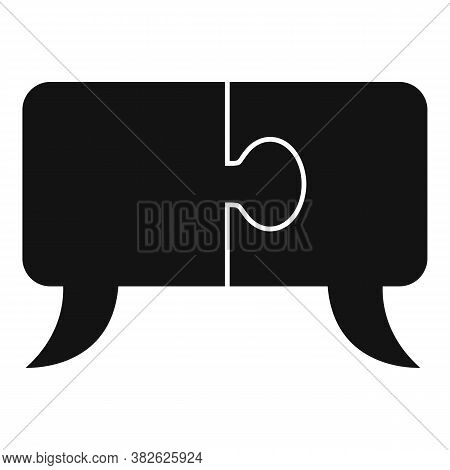 Mission Puzzle Chat Icon. Simple Illustration Of Mission Puzzle Chat Vector Icon For Web Design Isol