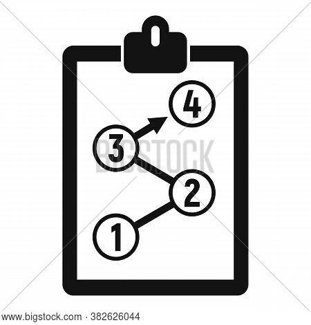Clipboard Mission Icon. Simple Illustration Of Clipboard Mission Vector Icon For Web Design Isolated