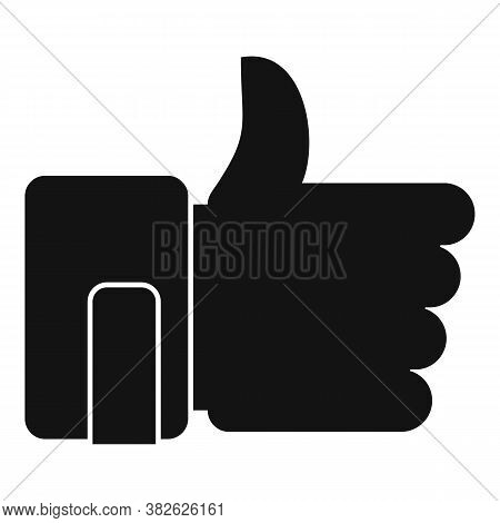 Thumb Up Mission Icon. Simple Illustration Of Thumb Up Mission Vector Icon For Web Design Isolated O