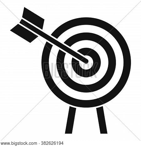 Arch Target Mission Icon. Simple Illustration Of Arch Target Mission Vector Icon For Web Design Isol
