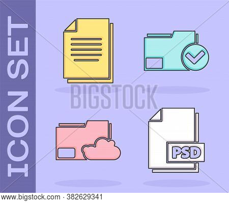 Set Psd File Document, Document, Cloud Storage Text Document Folder And Document Folder And Check Ma