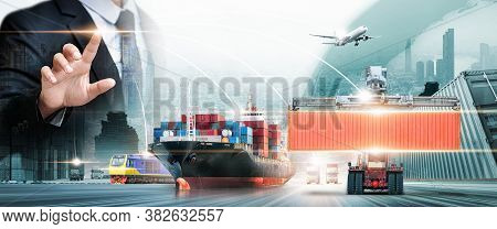 Global Business Connection Technology Interface Of Partner Connection, Logistics Network Distributio