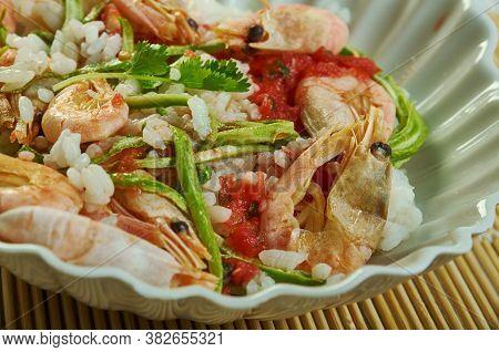 Risotto Con Gamberi E Zucchini - Italian Prawns And Courgette Risotto