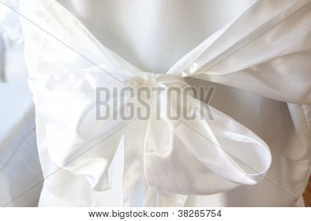 White Bow On Chair