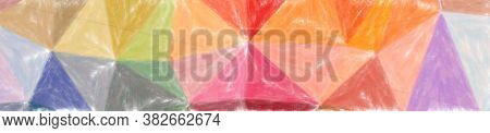 Abstract Illustration Of Blue, Orange, Pink, Purple, Red Low Coverage Pastel Background.