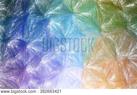 Abstract Illustration Of Blue And Purple Wax Crayon With Low Coverage Background.