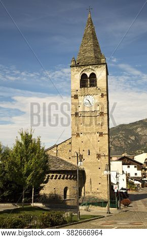 Xii Century Clocktower Of St.vincent (italy)