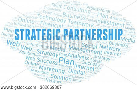 Strategic Partnership Word Cloud Create With The Text Only.