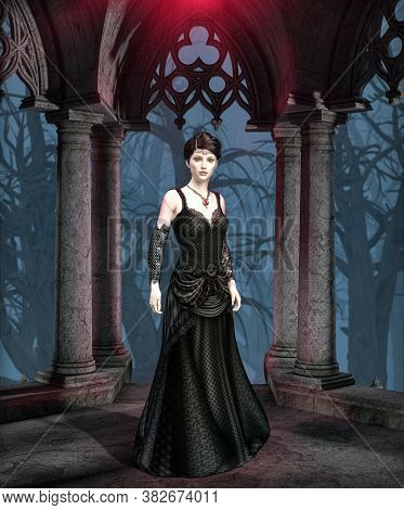 The Dark And Mysterious Princess Of Darkness, A Perfect Brooding And Dark Gothic Female Vampire, Dro