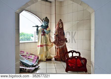 Poste De Flacq, Mauritius  - May 2, 2013: Hindu Goddess Statues In The Hindu Temple. The Temple Is T