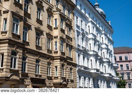 Refurbished Old Apartment Buildings Seen In Vienna, Austria