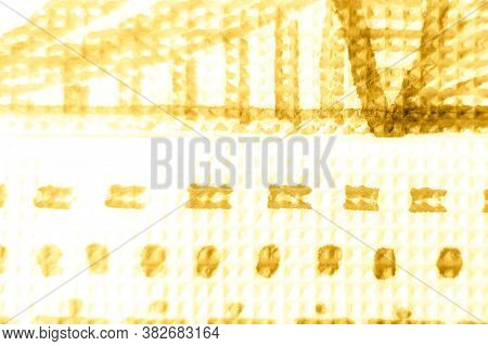 Grunge Graffiti Doodle Drawing. Ivory, Yellow Grunge Wall Image. Artistic Cover Template. Light Gold