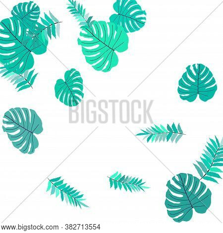 Trendy Vector Tropical Pattern, Great Design For Any Purposes. Beautiful Spring Garden. Tropical Bac