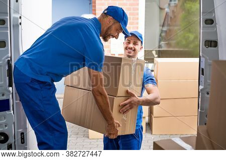 Moving House Truck Or Van Load. Removal And Delivery