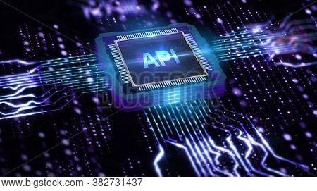 Api - Application Programming Interface. Software Development Tool. Business, Modern Technology, Int