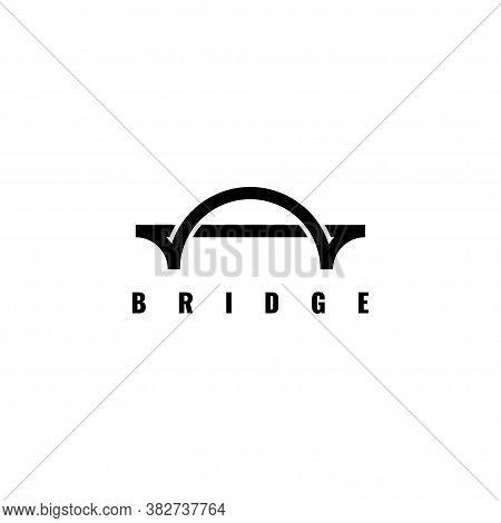 Simple Bridge Logo Design Vector Template.creative Bridge Symbol