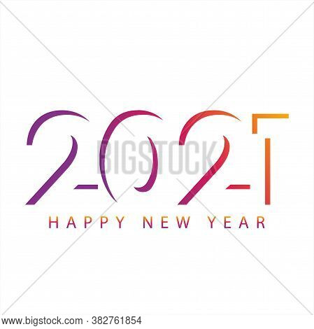 Happy New Year 2021. Shadow Design Number 2021. Number 2021 Vector Illustration. Number Of Calendar.