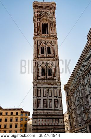 The Famous Tower Of Giotto In Florence