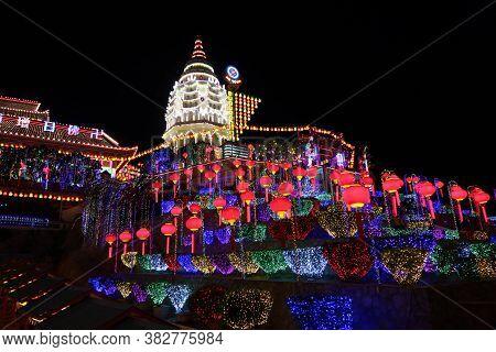 Penang, Malaysia, January 26, 2020: Rama Vi Pagoda (