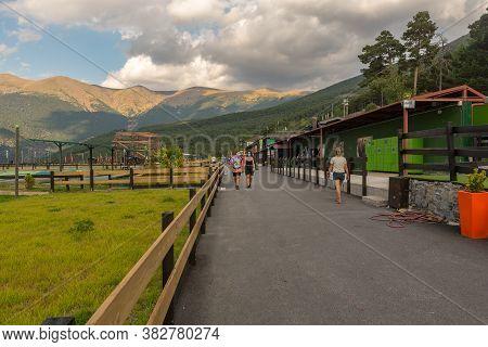 Naturlandia, Juberri Sant Julia De Loria, Andorra: August 27 2020: Naturlandia In Summer 2020 In The