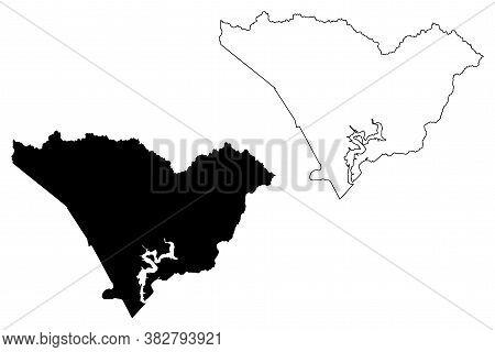 Taylor County, Kentucky (u.s. County, United States Of America, Usa, U.s., Us) Map Vector Illustrati