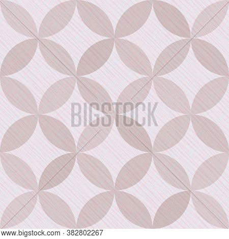 Interlacing Circles Parts Simple Seamless Vector Pattern. Guatrefoil Flower Brown Gothic Endless Orn