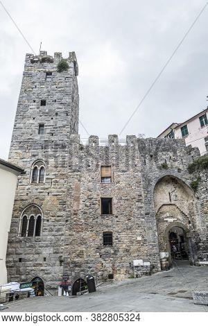 Portovenere, Italy - 06/30/2020: The Castle Of Portovenere