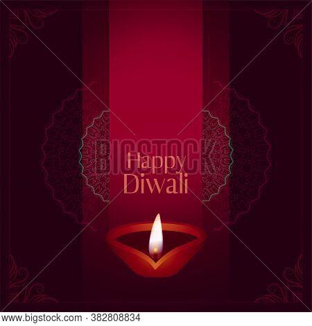 Happy Diwali Occasion Festival Card Design Background