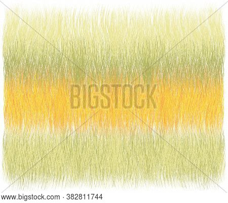 Fluffy Grunge Striped Weave Rug,  Mat, Carpet, Coverlet ,tapestry In Yellow, Green, Orange Pastel Co