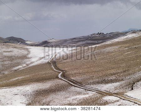 Way On Mountain Slopes