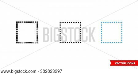 Select None Icon Of 3 Types Color, Black And White, Outline. Isolated Vector Sign Symbol.