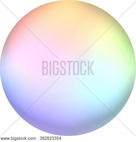 Abstract Colorful Sphere.rainbow Pastel Gradient Round Air Soap Bubble Ball.a Multicolored Circle Is