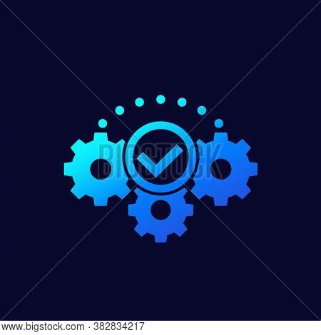 Execution Or Implementation Icon, Vector, Eps 10 File, Easy To Edit