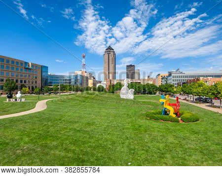July 19, 2020 - Des Moines, Iowa, USA: Des Moines is the capital of Iowa. It was incorporated on September 22, 1851, as Fort Des Moines, which was shortened to