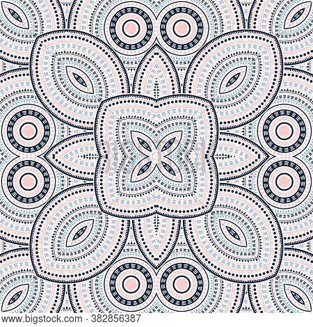 Creative Moroccan Zellige Tile Seamless Ornament. Ethnic Structure Vector Patchwork. Fabric Print De